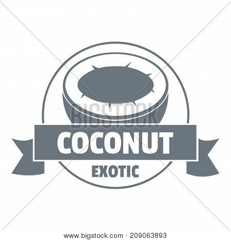 Coconut logo. Vintage illustration of coconut vector logo for web