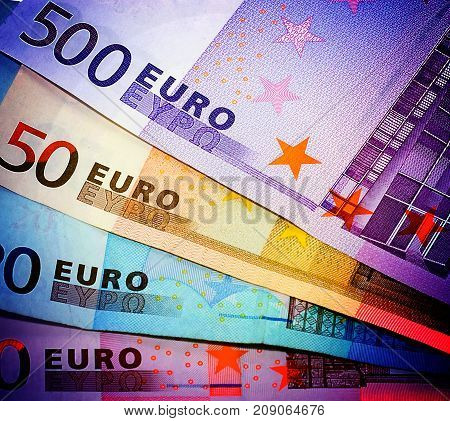 euros money concept background Saving business holiday