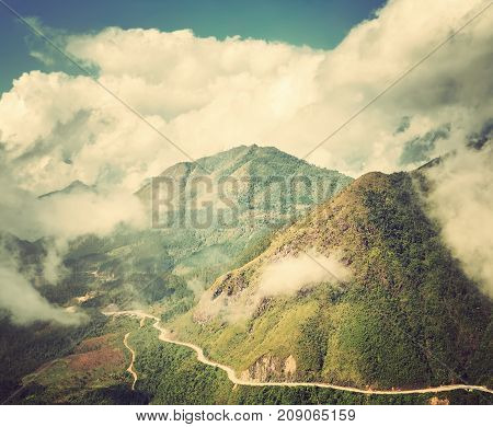 Summer Travel Landscape In The Mountains.