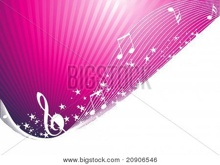 musical notes vector illustration abstract background