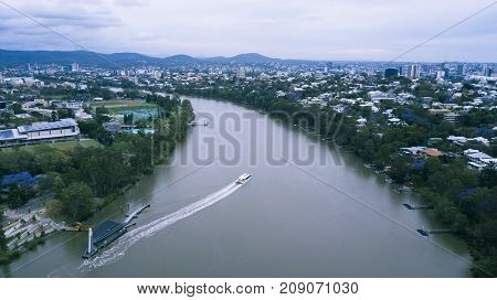 Brisbane, Australia - Saturday 14Th October, 2017: View Of Brisbane City During The Day On Saturday