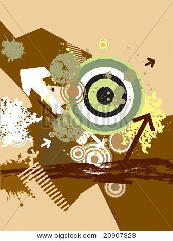 arrows with target and grunge elements, wallpaper