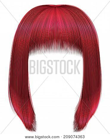 trendy hairs Red colors . kare fringe . beauty fashion