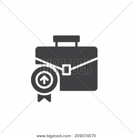 Business briefcase icon vector, filled flat sign, solid pictogram isolated on white. Portfolio symbol, logo illustration.