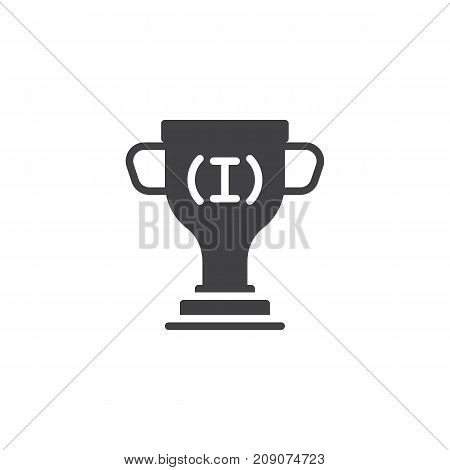 Trophy icon vector, filled flat sign, solid pictogram isolated on white. Achievement symbol, logo illustration.