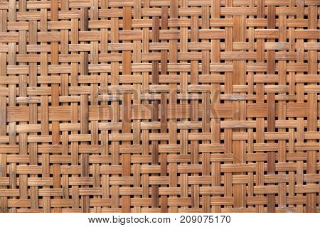 Texture and pattern background of bamboo basket