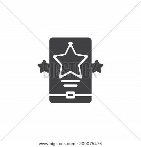 Rating icon vector, filled flat sign, solid pictogram isolated on white. Symbol, logo illustration.