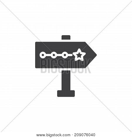 Signpost pointer icon vector, filled flat sign, solid pictogram isolated on white. Symbol, logo illustration.