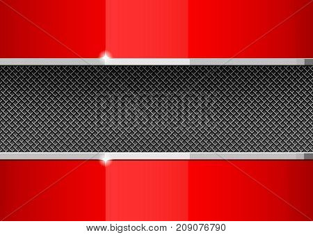 red and gray design template covers. Abstract background for a post in a social network. vector illustration.
