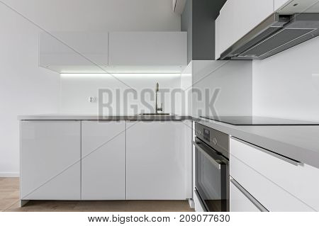 Kitchen With White Furniture