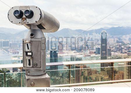 Tourist Binocular Telescope, Hong Kong City