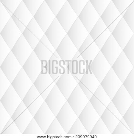 White leather upholstery vector seamless pattern. Quilted leather texture. Can be used in web design and graphic design.