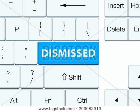 Dismissed Cyan Blue Keyboard Button