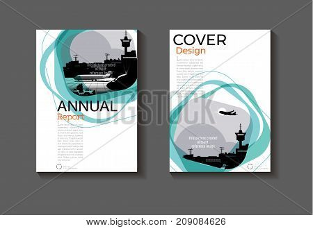 Emerald green modern cover design modern book cover abstract Brochure cover templateannual report magazine and flyer layout Vector a4
