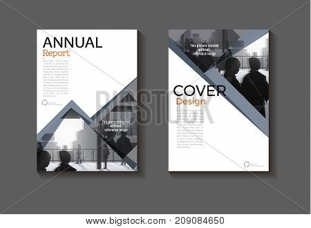 gray modern cover design modern book cover abstract Brochure cover templateannual report magazine and flyer layout Vector a4