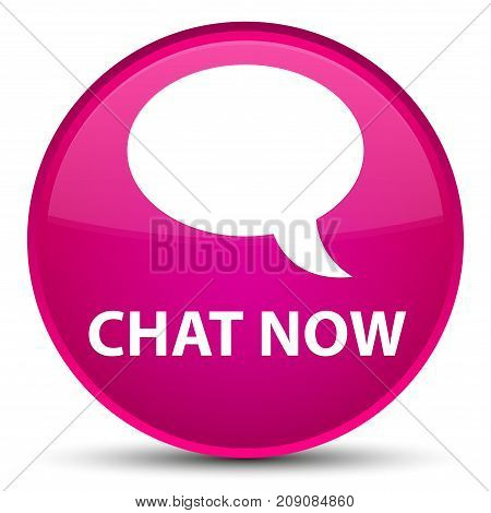 Chat Now Special Pink Round Button