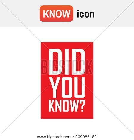 did you know vector. did you know red tag background illustration