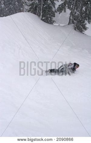 Snowboarder Down