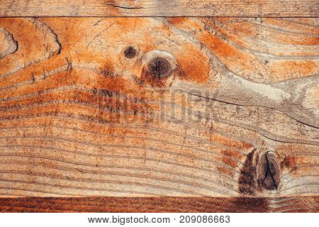 Abstract wood background full frame rustic plank wooden texture. Weather worn board surface with age marks.