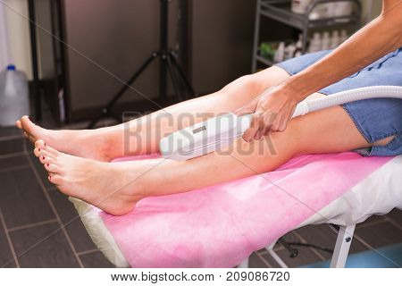 Laser epilation. Hair removal procedure. Cosmetology and SPA concept