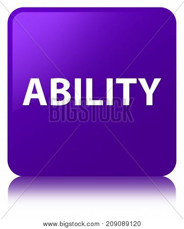 Ability Purple Square Button