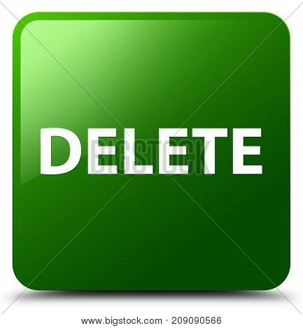Delete Green Square Button
