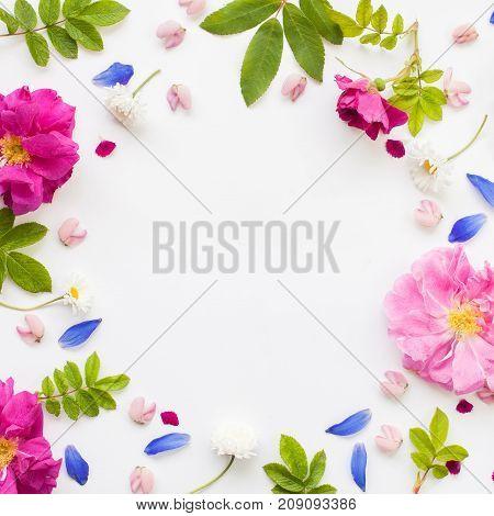 Romantic Flower Flat Lay Frame