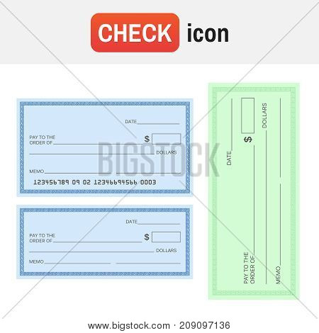 Check Blank Paper. Blank Check Vector Sign