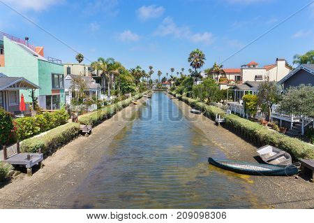 Venice Canal Historic District, Los Angeles, United States.