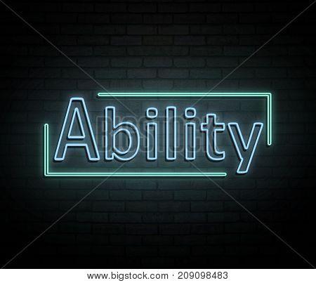 Neon Ability Concept.