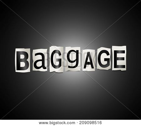 Baggage Word Concept.