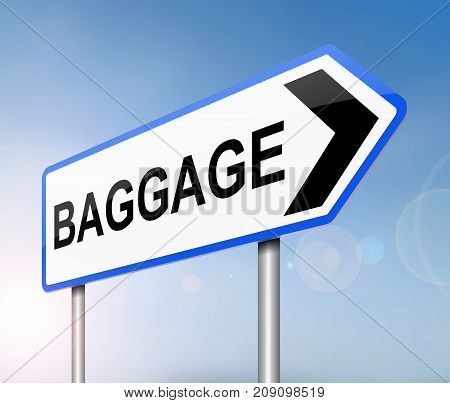 Baggage Sign Concept.
