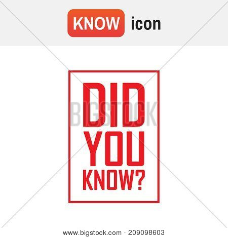 Did You Know Vector. Did You Know Red And Blue Tag Background Illustration Element
