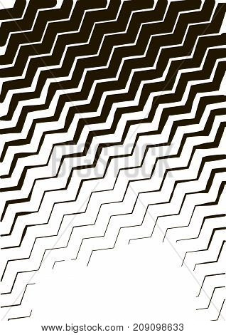 Minimalistic Design. Halfton Cover A4 Format. Halftone Wave Vector Concentric Lines, Modern Business