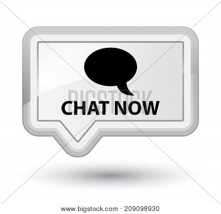Chat Now Prime White Banner Button
