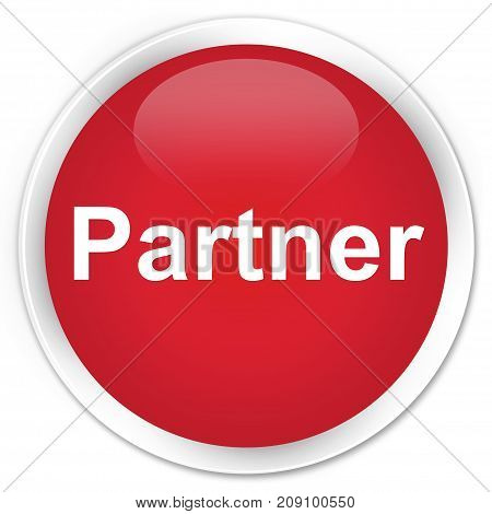 Partner Premium Red Round Button