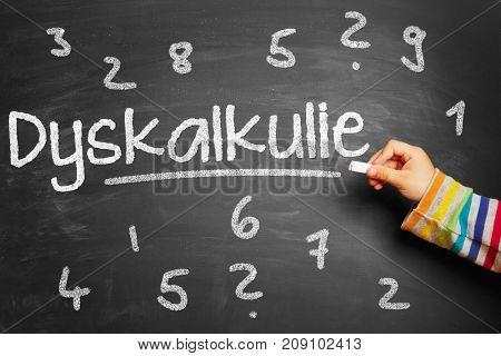 Kid writes german word