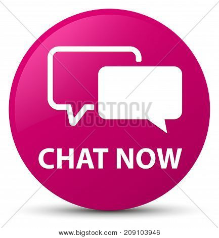 Chat Now Pink Round Button