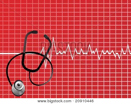 vector medical background with stethoscope