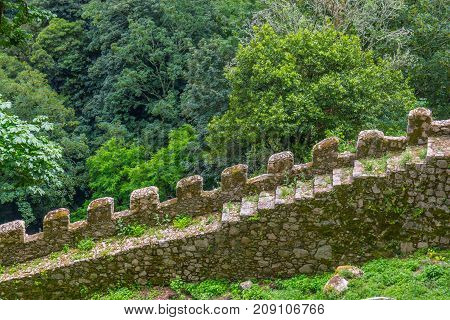 Rock Stairs In Castle Of The Moors, Sintra