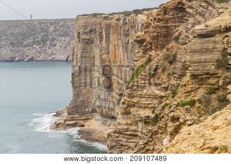 Ocean And Cliffs  In Cabo De Sao Vicente