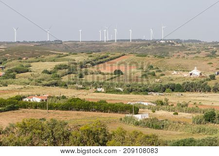 Wind Farm And Farms In Vila Do Bispo