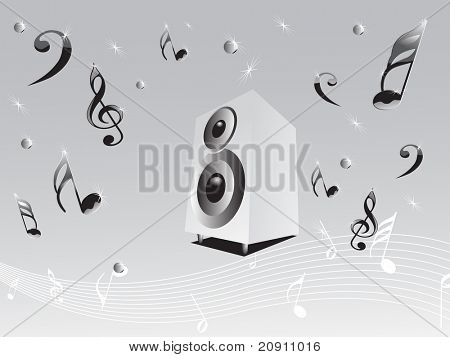 loudspeaker with disco background