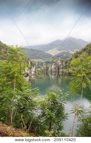 Lago di San Domenico in the municipality of Villalago in the province of L'aquila