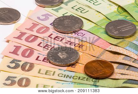 Romanian Coins And Banknotes, Close-up