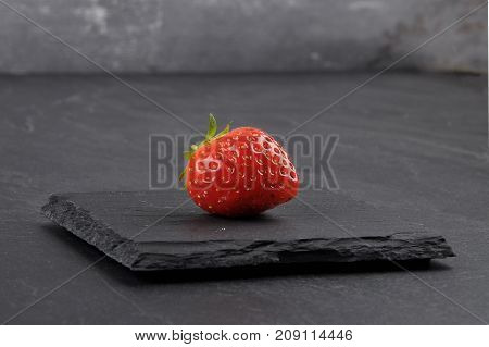 Strawberry On Gray Shale