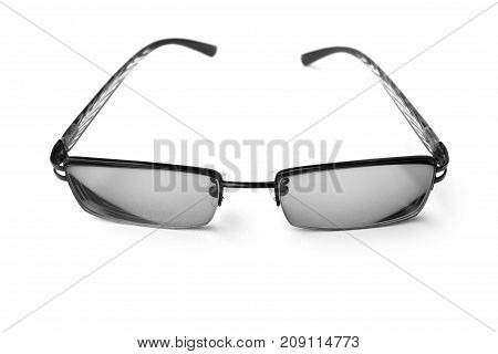 glasses with simple design isolated on white background