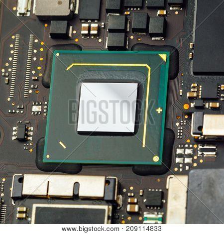 cpu processor of an laptop