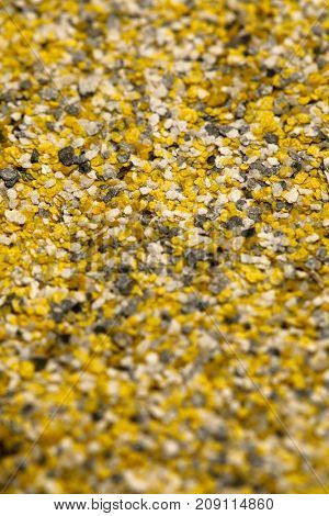 decorative shell texture, yellow fractions