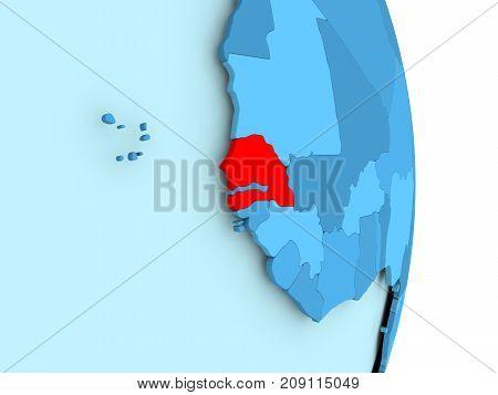 Map Of Senegal In Red